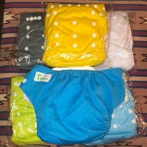 6 Baby Washable Reusable Pocket Cloth Diapers